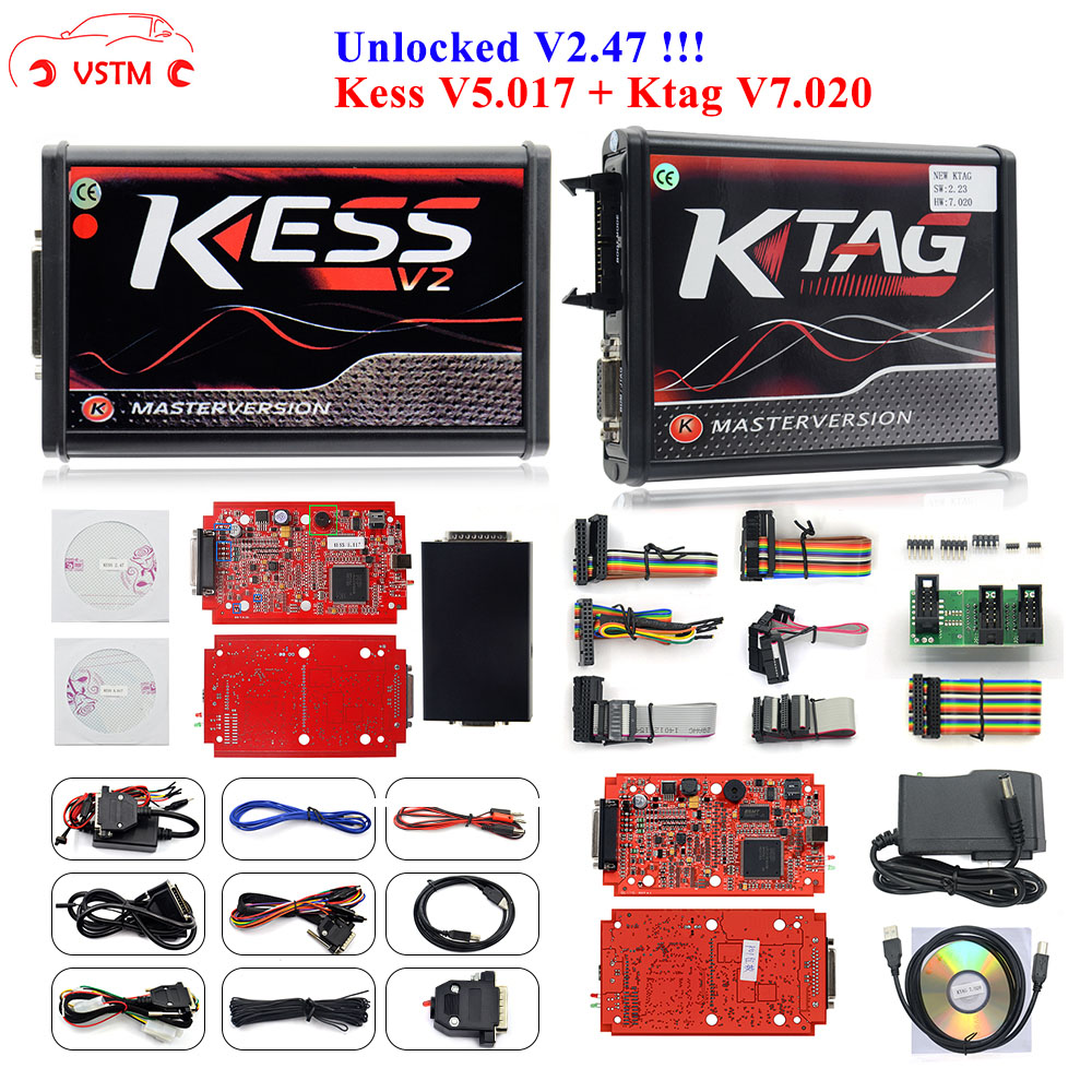 100% No Tokens KESS V2 V5.017 V2.47 2.47 Master Version ECU Chip Tuning KESS 2 5.017 Used Online For Car Truck