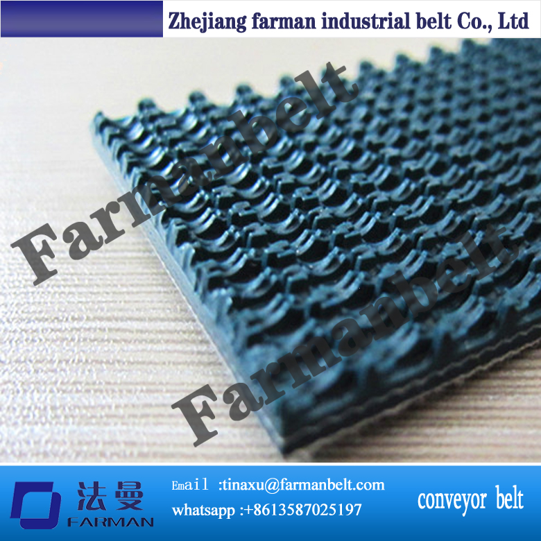 Wholesales quality rough surface pvc conveyor belt grass pattern rough surface green pvc skid conveyor belts