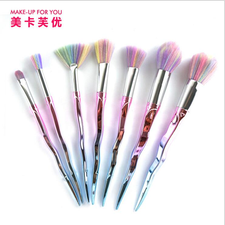 MAKE-UP FOR YOU Brand new 7 Pcs Makeup Brushes Set Make Up Brushes Tools Cosmetic Foundation Brush Kits косметику make up for life в украине