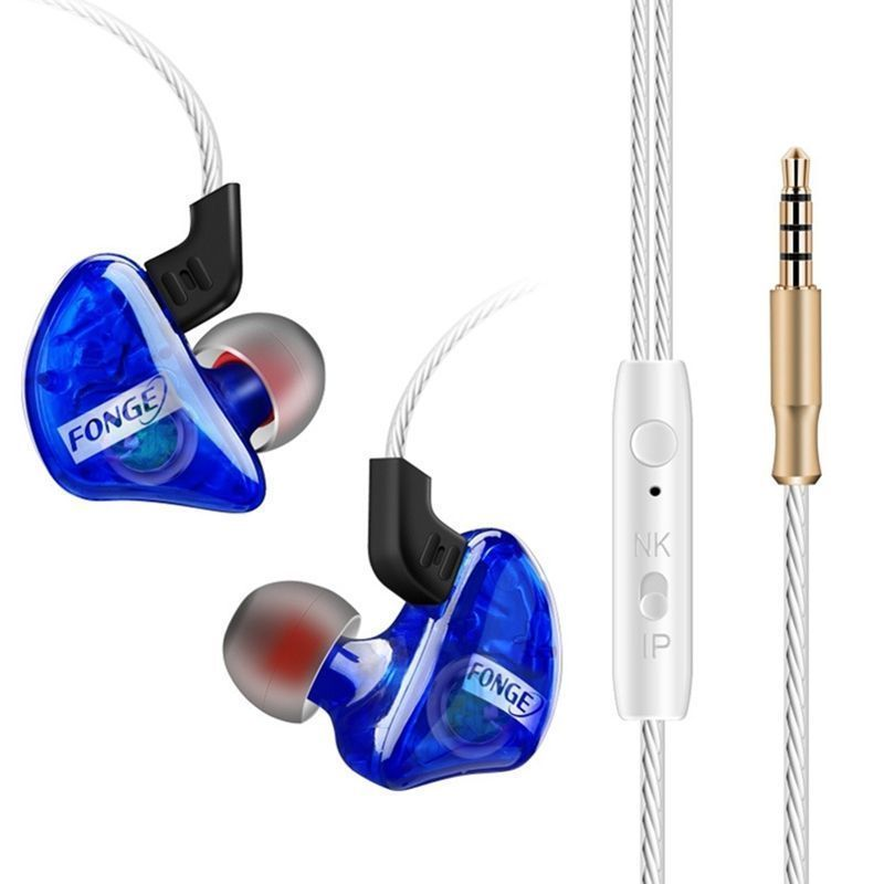 Fonge Transparent T01 In-Ear Earphone Subwoofer Stereo Bass Earbuds Headset with Mic for HTC Huawei smart phone magnet metal in ear earphone stereo bass sound anti sweat sport earphone with mic handsfree earbuds for smart phone mp3 xiaomi