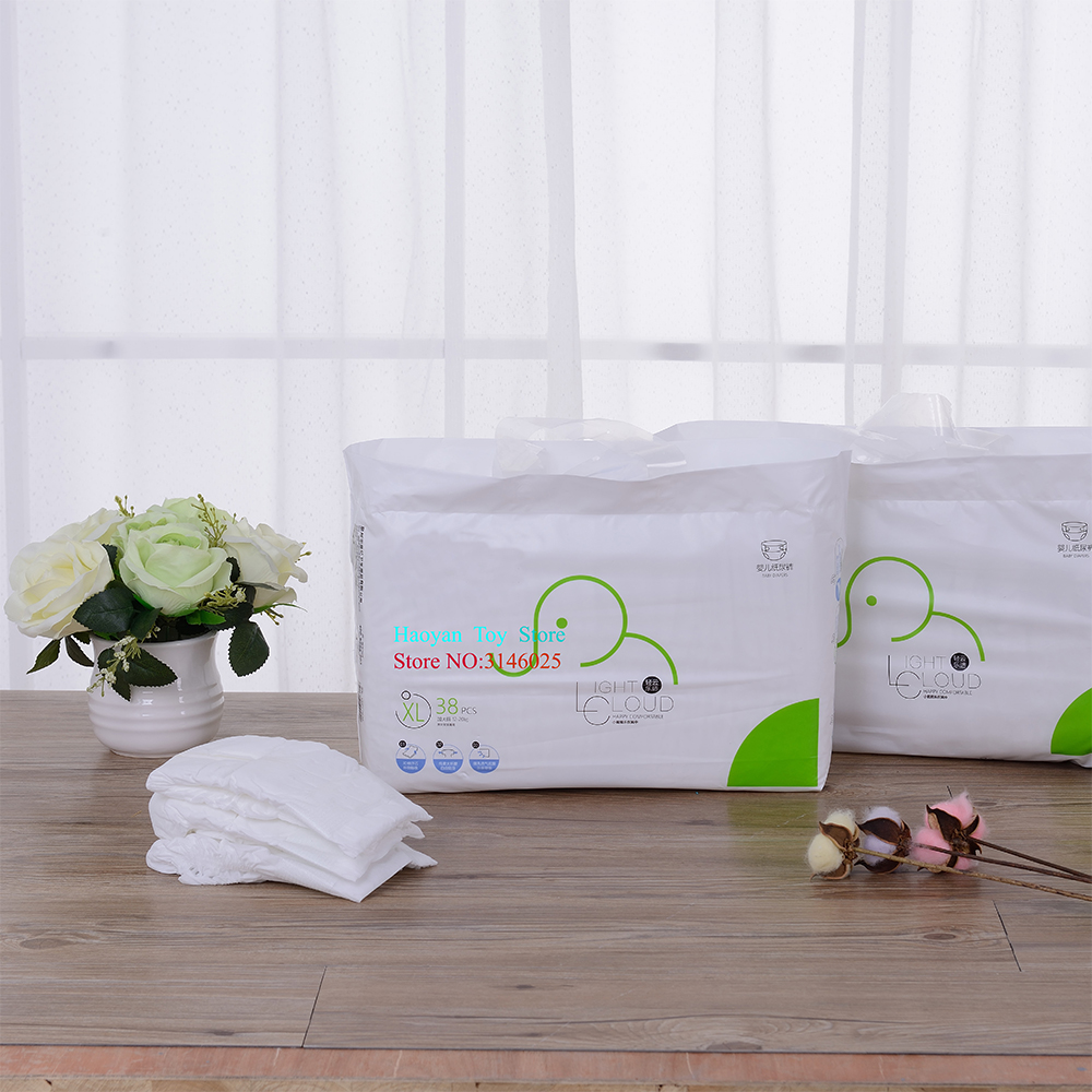 Newborn Disposable Nappies Baby Paper Diaper Cotton Soft Disposable Diaper 3-20Kg Baby Security Product Newborn Gifts Diaper Bag