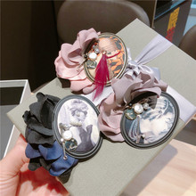 Korea Handmade Vintage Fabric Flower Pearl Beauty Badge Brooches Pins Fashion Jewelry Woman Accessories-JQGWBH034E