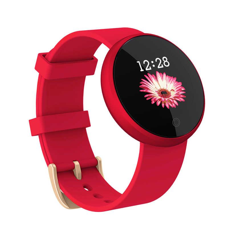 B36 ساعة ذكية امرأة الموضة ساعة ذكية الإناث فترة تذكير هيرتريت مقاوم للماء الساعات الملونة خطوة الجمال ساعة اليد