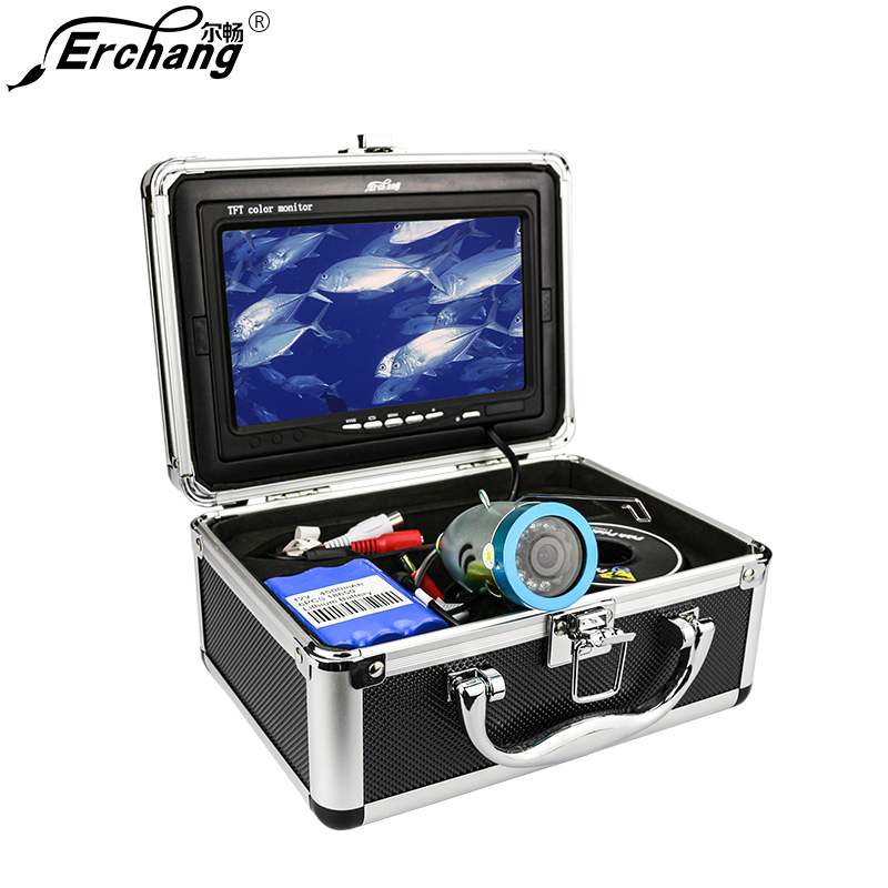 Erchang Video Recoding Fish Finder Camera Underwater Fishing Cameras Infrared 12pcs Led Fishcam For Ice Fishing DVR Kamera ip66 waterproof mini lens underwater cameras fishing camera lens fishing rod with fish video cameras free ship