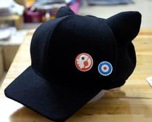 Asuka Hat Cat Ears Personality Visor Fashion Visors Cosplay Costume Polar Fleece Plush Cap With Badges