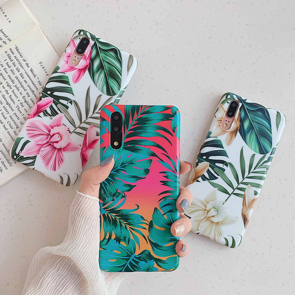Flower Banana Leaf Phone Cases For Huawei 1