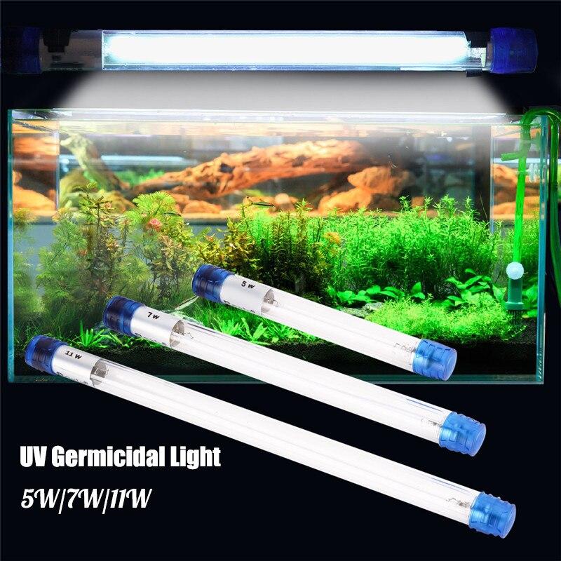 5 W/7 W/11 W acuario germicida UV luz ultravioleta de lámpara esterilizador sumergible los peces buceo Arrecife de Coral tanque lámpara bactericida