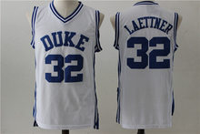 eaad4387d8c5 BONJEAN Cheap Throwback Basketball Jerseys 32 Christian Laettner Duke  University White Jersey Stitched Retro Mens College