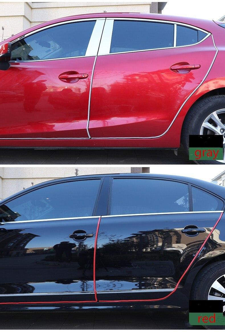 Qirun accessoires voiture carrosserie plaque de porte bandes protection pour BMW E63 E64 6 series 2013, 2014, 2015