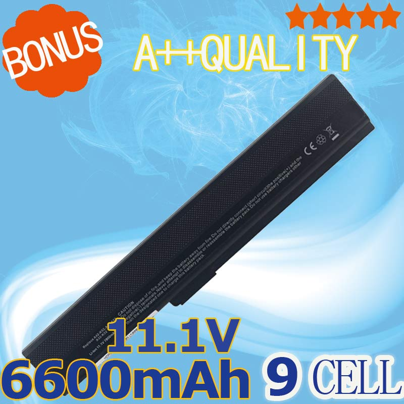 6600mAh 9 cells Laptop Battery For Asus A32-K52 A52 A52F A52J K42 K42F K52F K52 K52J K52JE K52JC Series A31-K52 A41-K52 A42-K52