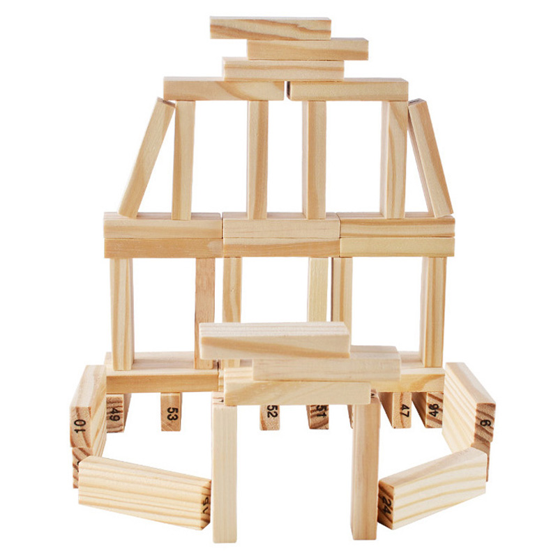 22cm Large Wooden Tower Wood Toy Domino Stacker Extract Figure Blocks Jenga Game Healthy Funny Children's Toy Draw Block Playing