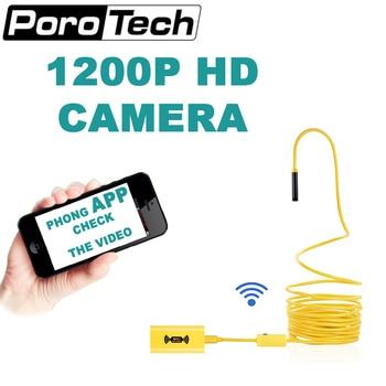 كاميرا التنظير 110B 1200P أصفر دعم أندرويد iPhone سوبر مقاوم للماء IP68 ضوء ثعبان كاميرا فحص المنظار الصلب
