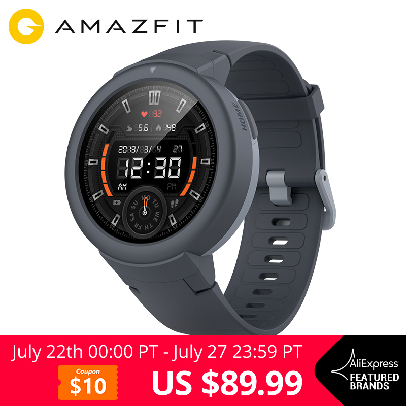 Amazfit Verge Lite English Version GPS Smart Watch 1.3 AMOLED Screen Upgraded HR Sensor 20 Days Battery Life