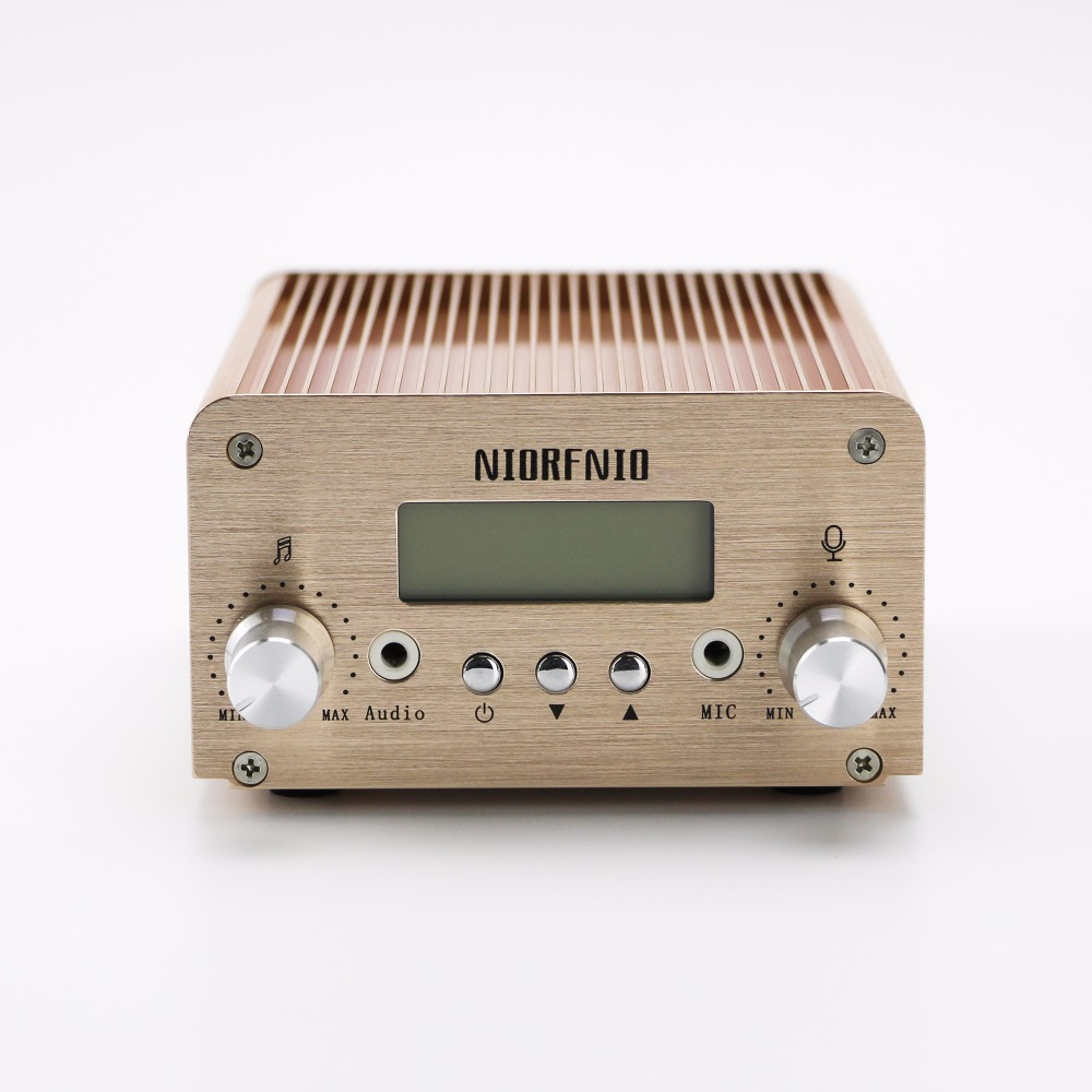 лучшая цена 5W/15W Stereo PLL Mini FM Auto Scan Radio Transmitter with PC Control 87-108 MHz Adjustable