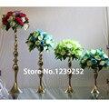 5 pcs Ouro/Sliver Metal Candle Holder 40 cm de Altura Suporte Da Vela Para O Casamento Evento Candelabros Vela Flor Vara vaso (NENHUMA flor)