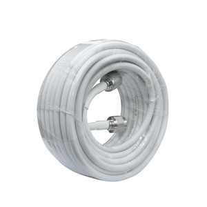 Image 2 - 13 Meters White RG6 Coaxial Cable N Male to N Male Connector Low Loss Coax Antenna Cable for Mobile Cell Phone Signal Booster