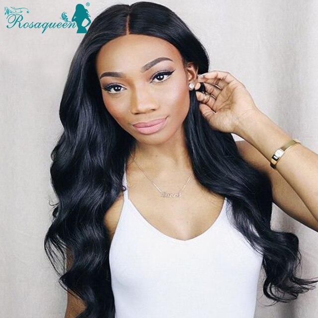 Glueless Lace Front Human Hair Wigs Brazilian Virgin Hair Wigs Body Wave 130% Full Lace Human Hair Lace Front Wigs Black Women