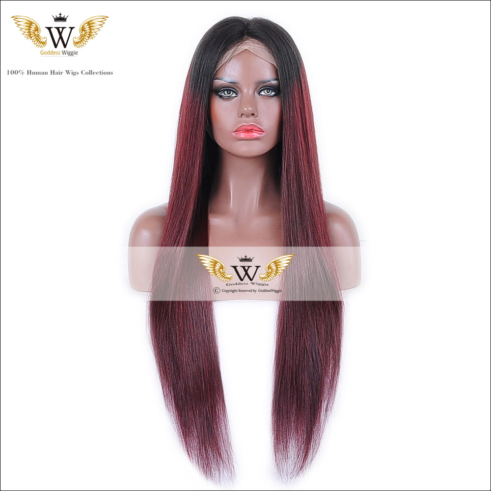 Aliexpress.com   Buy 5A Ombre Remi Human Hair Lace Front Wig Red Glueless  Full Lace Human Hair Ombre Straight Wigs For Black Women from Reliable hair  lace ... c7da0780f1