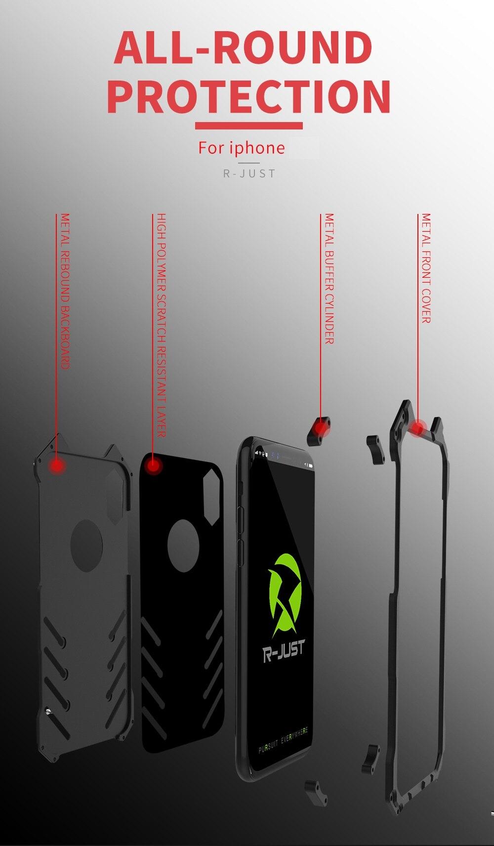 metal capinhas coque capa para iphone xs max xr 10 casos