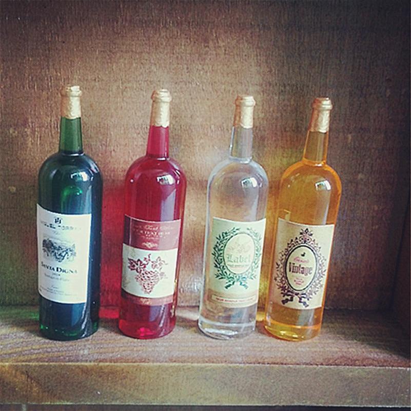 Buy 4pcs 1 12 dollhouse wines miniature for Decor drink bottle