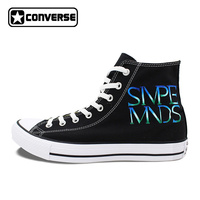 Women Skateboarding Shoes Design Music Athletic Shoe Hand Painted Canvas Sneakers Simple Minds Converse All Star
