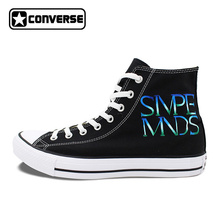 Women Skateboarding Shoes Design Music Athletic Shoe Hand Painted Canvas Sneakers Simple Minds Converse All Star for Men