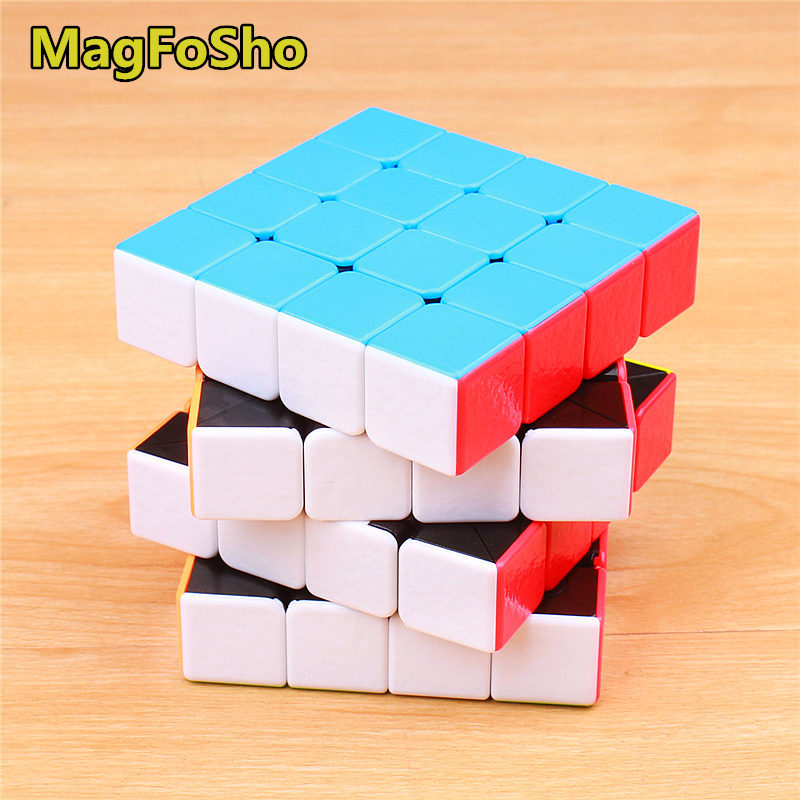 4x4x4 MagFoSho magic cube sticker less speed cube professional shengshou 4 layer cubo magico puzzles for adults antistress toy