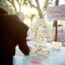 Дерево, Свадебная Гостевая книга, 3D дерево, гостевая книга, Дерево желаний, деревянные Сердца, подвеска, висячие украшения для свадебной вечеринки