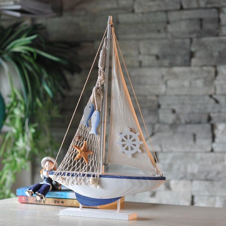 Model boat home decor