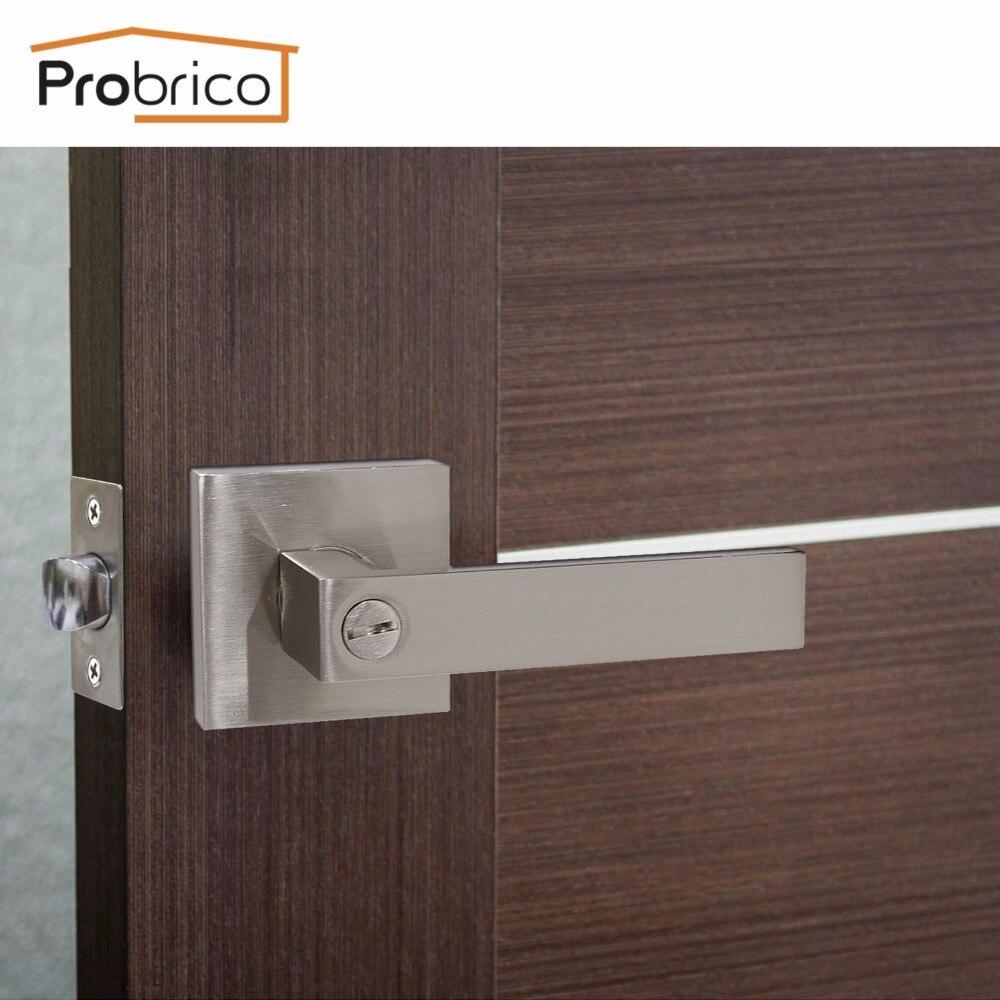 Probrico Rvs Privacy/Passage Interieur Deurslot Set Geborsteld ...