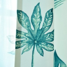 Green Leaves Printed Tulle