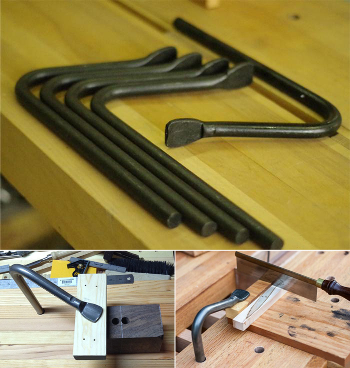 Steel Bench Hold Fast Clamp For Woodworking 19mm Hole 4pcs