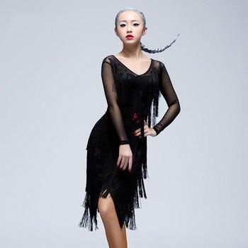 robe latine franges Latin dance costume new style tassels dress