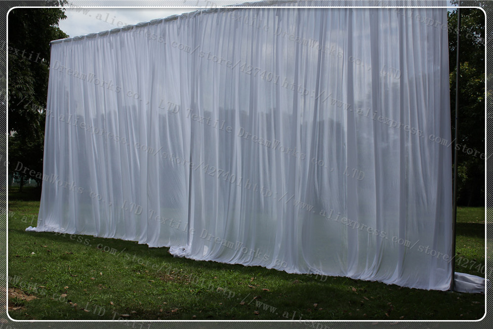 3x6m wedding backdrop curtain wedding drapes stage for Background curtain decoration