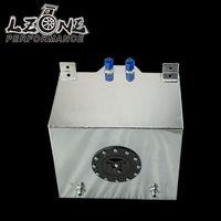 LZONE RACING-30L Aluminium Brennstoffdruckausgleichbehälter spiegel poliert brennstoffzellen schaum nach innen, ohne sensor JR-TK67