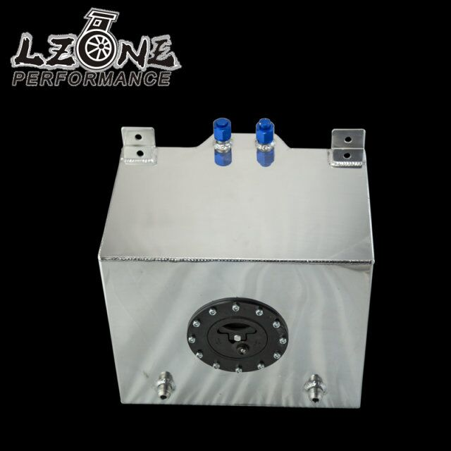 LZONE RACING - 30L Aluminium Fuel  Surge tank mirror polished Fuel cell foam inside, without sensor JR-TK67 цена 2016