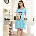 Свободного покроя платье послеродовой лактации сова с короткими рукавами шею платье для беременных хлопок материнство пижамы 15921fc