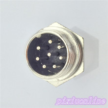 1pcs GX16 8 Pin Male Diameter 16mm Wire Panel Aviation Connector L108Y Circular Socket High Quality