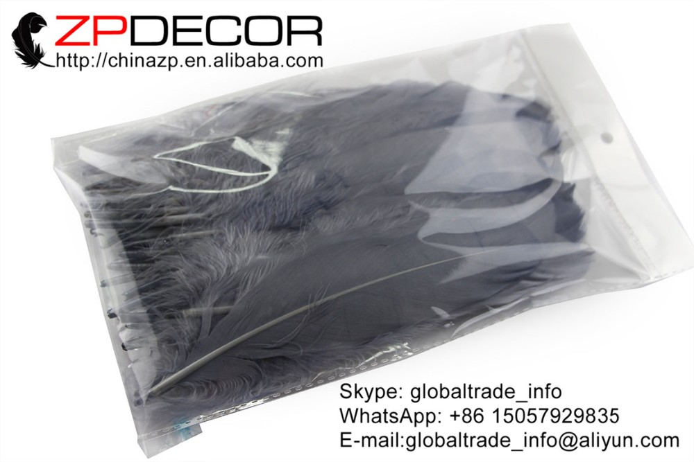 Goose Feathers, 1 4 lb - GREY Goose Satinettes Loose Feathers (bulk) (3)
