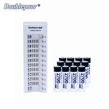 12 Slots Doublepow DP-K12 Automático Inteligente Carregador Rápido + 1.2 V AA2700mA & batterie recarregável AA2200mAh em Plena Capacidade