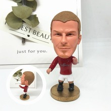Soccerwe font b dolls b font figurine Sports stars Beckham 7 Classic Movable joints resin model