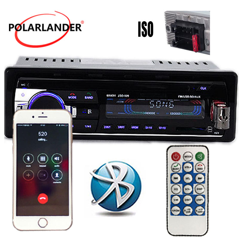 MP3/WMA/WAV player Multiple EQ microphone FM/SD/USB/AUX Car Stereo <font><b>Radio</b></font> floor price ID3 Play 1 DIN 12V Bluetooth image