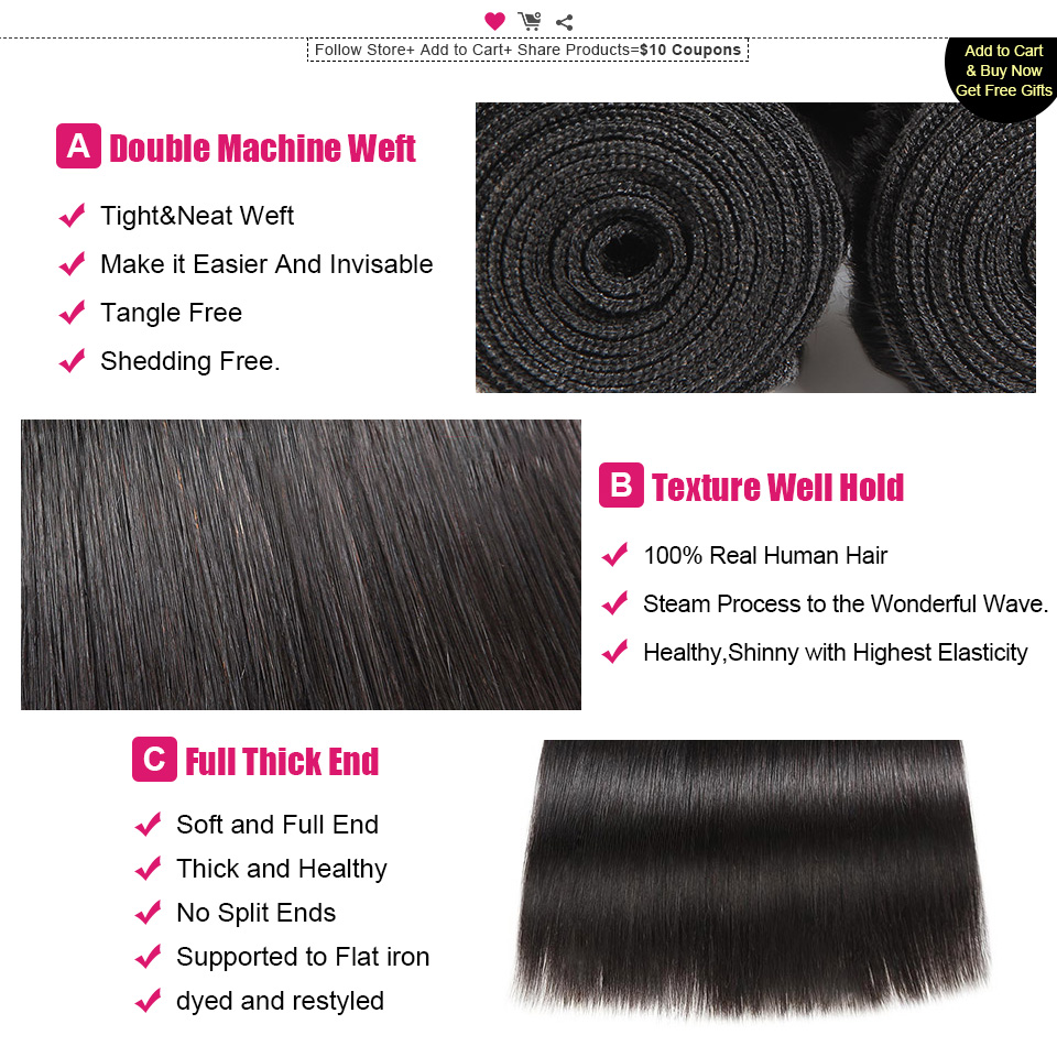 ishow straight remy human hair weave (3)