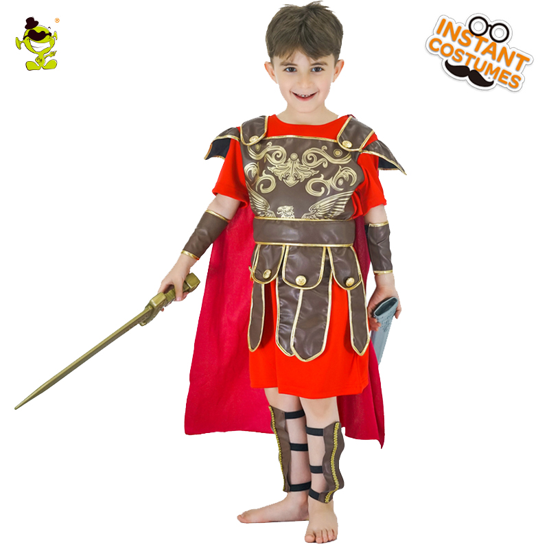 Honor Red Knight Costumes Kids Brave Warrior Leaders Role Play Sets With Cape Halloween Medieval Soldiers Cosplay Fancy Dress