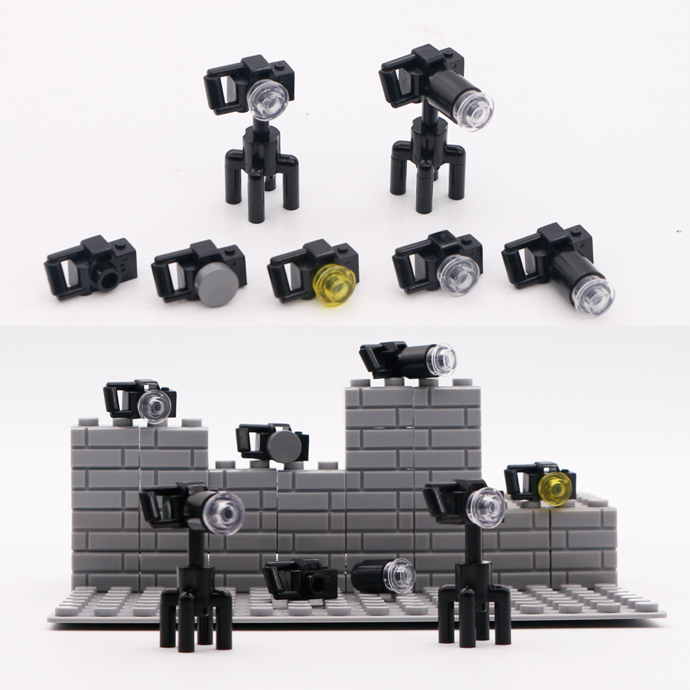 Bricks City Accessories Camera Tripod Mini Figure Photographer Toy Gift Compatible LegoINGlys Friends Parts Building Blocks 2019