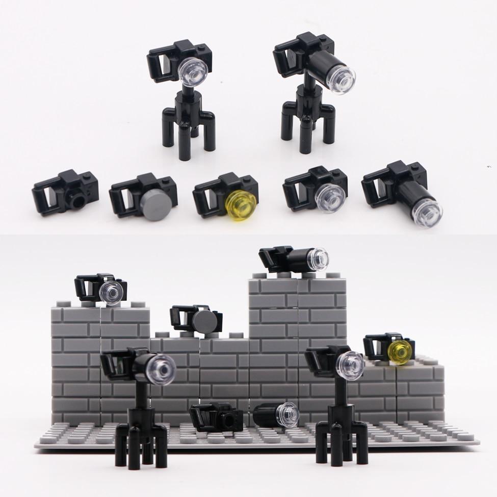 LEGO New Assembled Black Minifigure Video Movie Camera Accessory