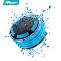 Melery F013 Shower Speakers Portable IPX7 Waterproof LED Mood Lights Bluetooth Speaker Mini Column With Built