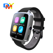 Bluetooth 4,0 Smart Uhr mit SIM Einbauschlitz Sport Pedometer Schlaf anti-verlorene Smartwatch für iPhone iOS Android Smartphones