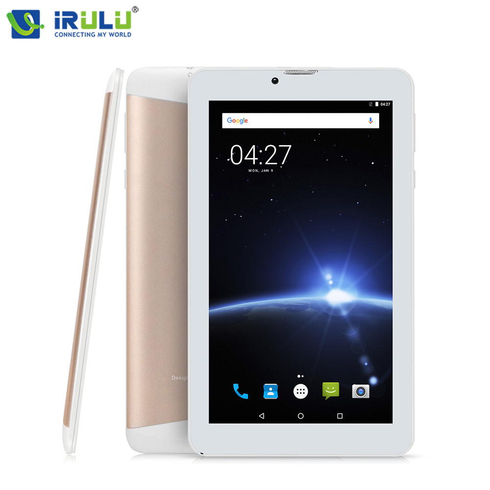 iRULU X6 7'' 3G Phablet Android Tablet Phone Calling Quad Core 1GB/16GB 1024x600 IPS SIM Card Bluetooth WIFI Dual Cam Ultra Slim irulu x6 7 android 7 0 tablet 3g phablet phone call quad core 1 3ghz 1gb 16gb bluetooth wireless dual cams sim card support gms