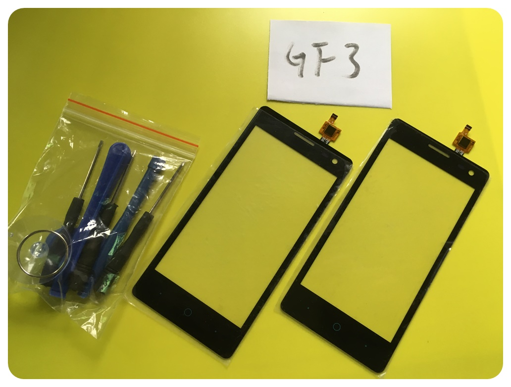 GF3 Sensor Phone Replacement Parts For ZTE Blade GF3 Touch Screen Digitizer Glass Panel Add Tools With Tracking Number